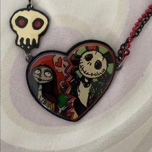 Nightmare Before Christmas Necklace Jack and Sally